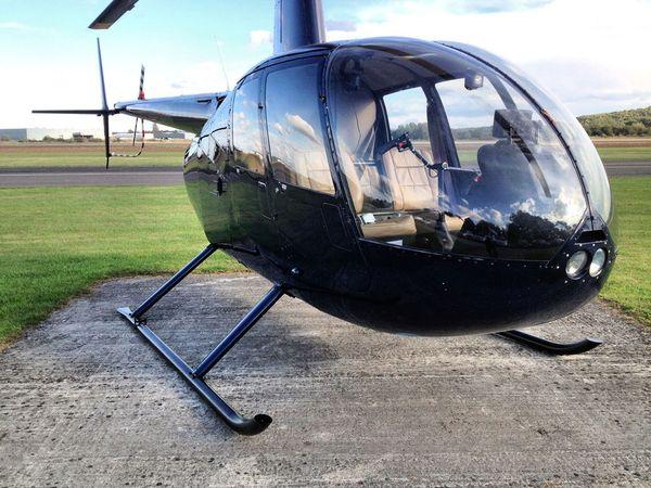 Вертолет Robinson R44 синий